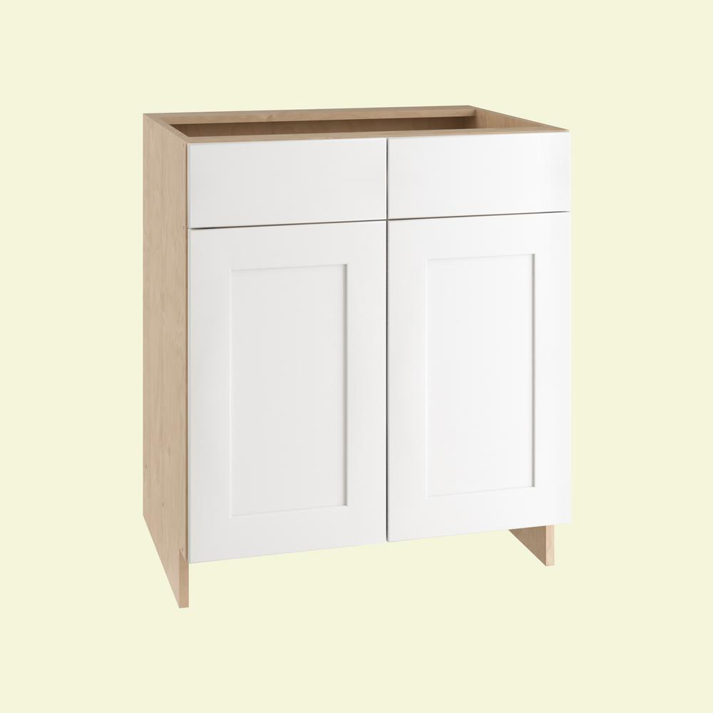 Elice Base Cabinet With 2 Tier Cookware Shelves Soft Closes Door And 1 Close Drawer In Polar White