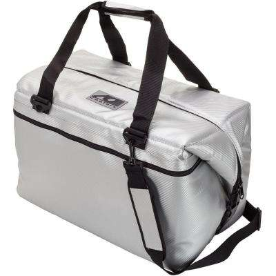 56 Qt. Carbon Cooler with Shoulder Strap and Wide Outside Pocket