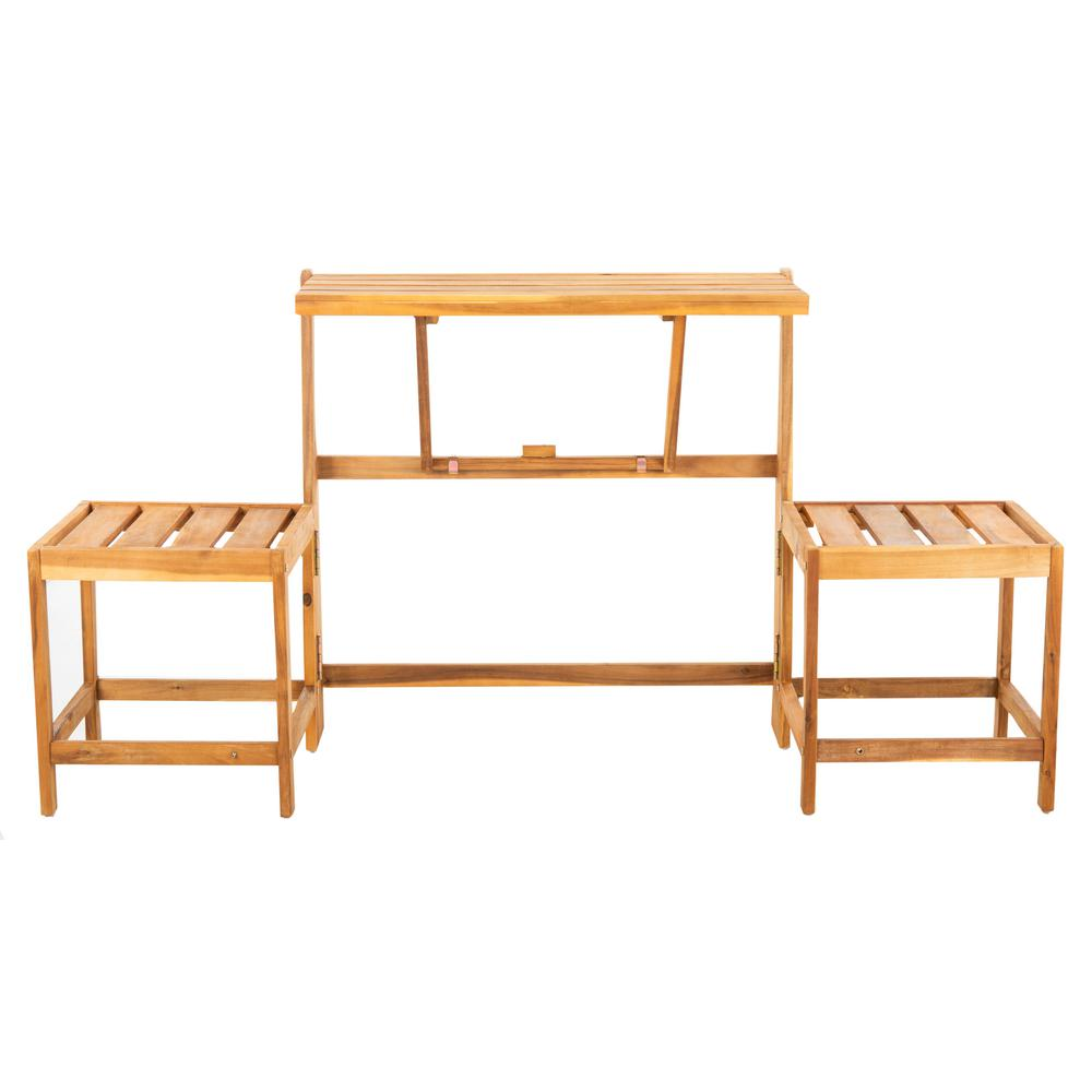 Amazing Safavieh Belamy 2 Person Natural Wood Outdoor Bench Evergreenethics Interior Chair Design Evergreenethicsorg