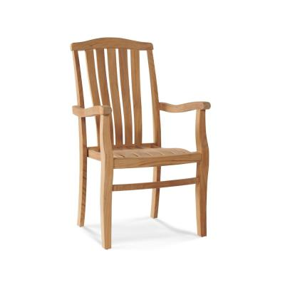 Pacifica Stacking Teak Outdoor Dining Armchair (Set of 4)