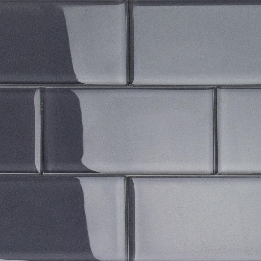 Ivy Hill Tile Contempo Smoke Gray Polished 3 In X 6 In X