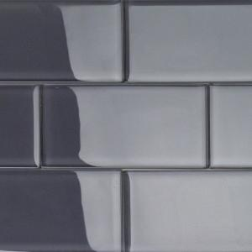 Splashback Tile Contempo Smoke Gray Polished 3 In X 6 In