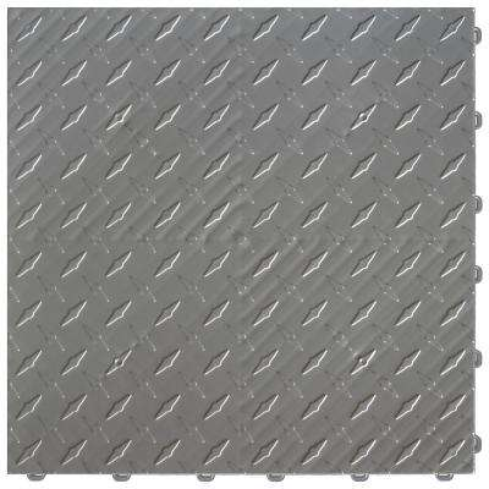 15.75 in. x 15.75 in. Slate Grey Diamond Trax 9-Tile Modular Flooring Pack (15.5 sq. ft. / case)