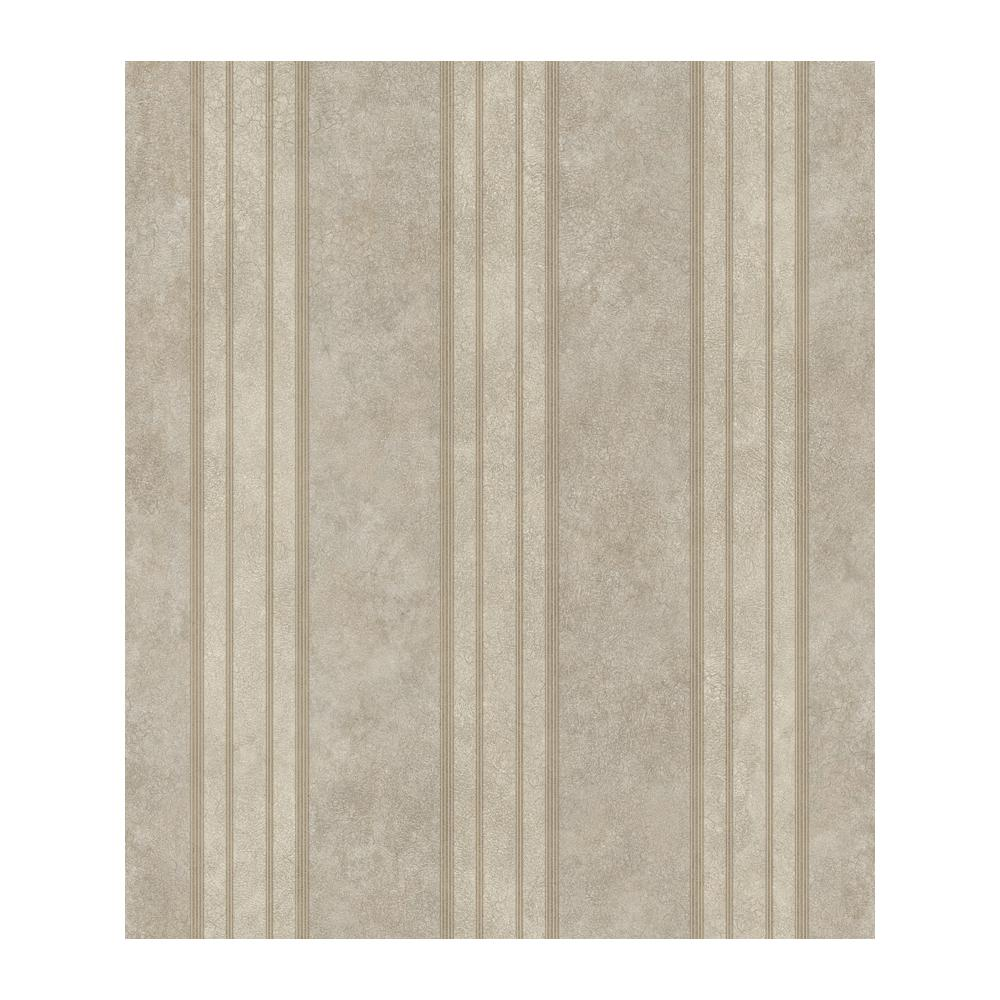 Chesapeake Giovanni Dark Grey Tuscan Alternating Stripe Wallpaper