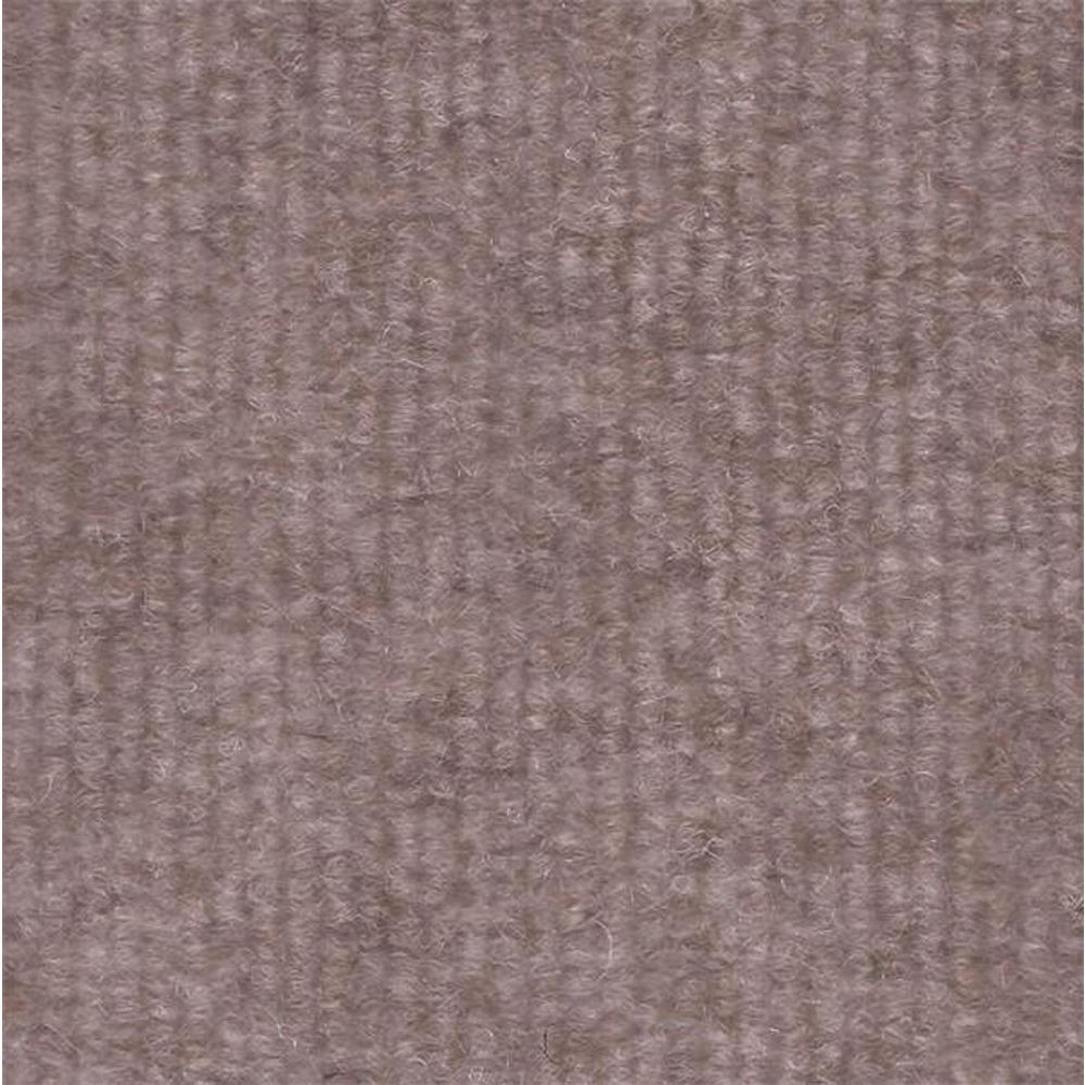Durasquares Taupe Single Rib 18 in. x 18 in. Carpet Tile (12 Tiles ...