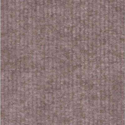 Taupe Single Rib 18 in. x 18 in. Carpet Tile (12 Tiles/Case)