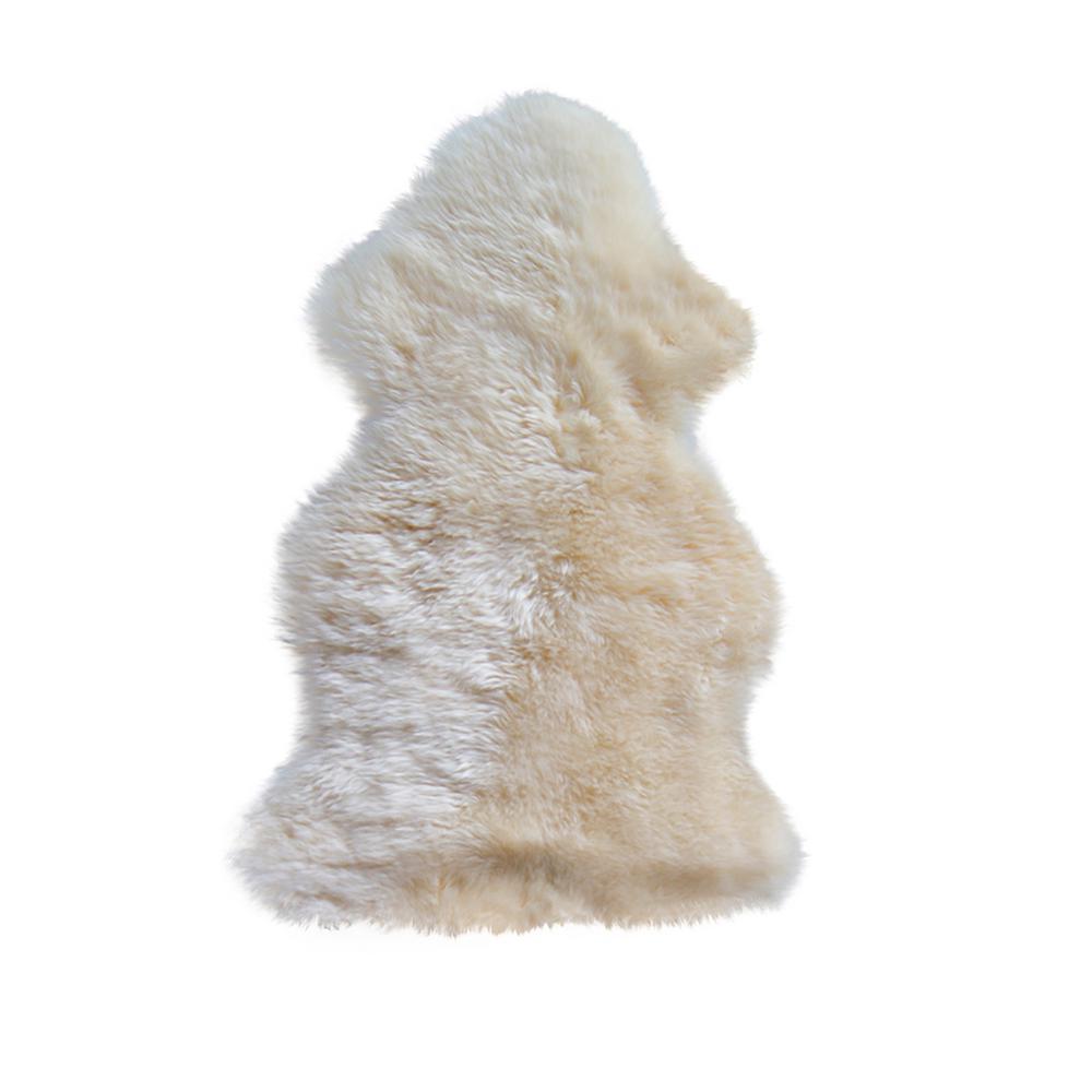New Zealand Gold 2 ft. x 3 ft. Single Sheepskin Area Rug