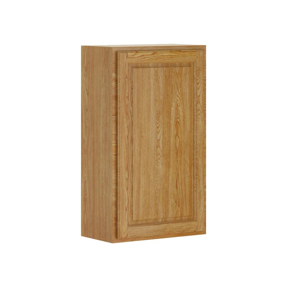 Madison Base Cabinets In Medium Oak: Hampton Bay Madison Assembled 21x36x12 In. Wall Cabinet In