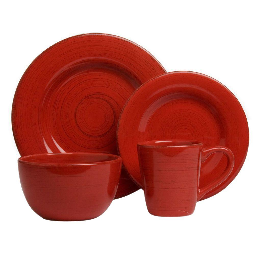 Tag Sonoma 16 Piece Dinnerware Set In Red Tag556063 The
