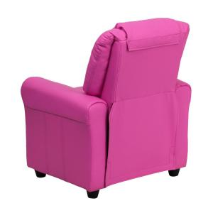+2  sc 1 st  The Home Depot & Flash Furniture Contemporary Hot Pink Vinyl Kids Recliner with Cup ... islam-shia.org