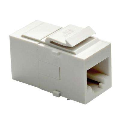 Keystone Category 5e RJ45 Connector, White