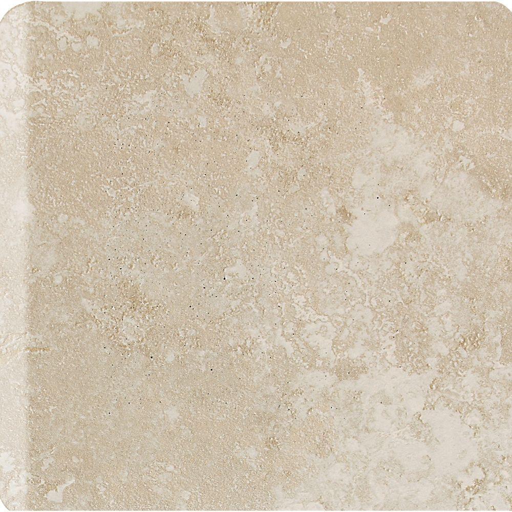 Sandalo Serene White 6 in. x 6 in. Ceramic Bullnose Wall Tile