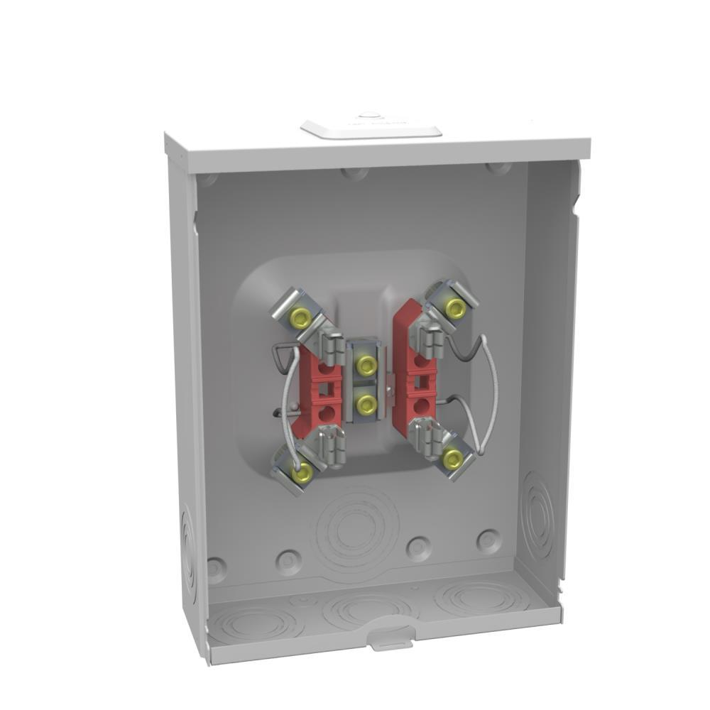 milbank 200 amp 4 terminal ringless overhead underground meter rh homedepot com Home Fuse Box Old Fuse Box