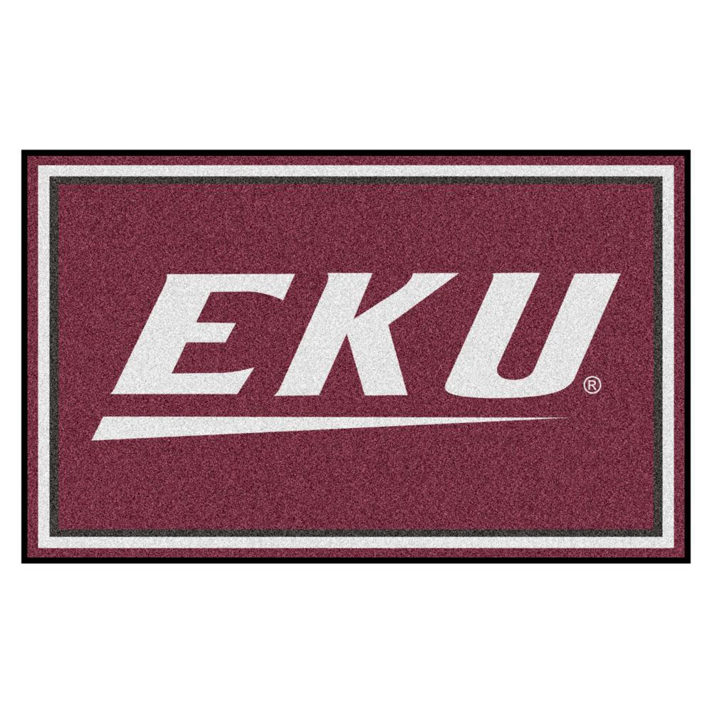 NCAA - Eastern Kentucky University Reddish Brown 4 ft. x 6 ft. Area Rug