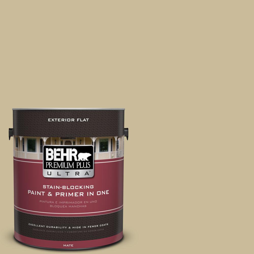 BEHR Premium Plus Ultra 1-Gal. #PPU8-9 Tea Bag Flat Exterior Paint