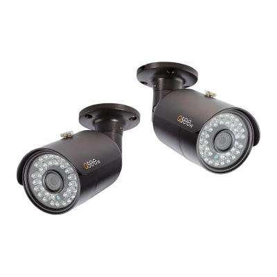 Indoor/Outdoor Bullet 4MP Security Camera with Night Vision (2-Pack)