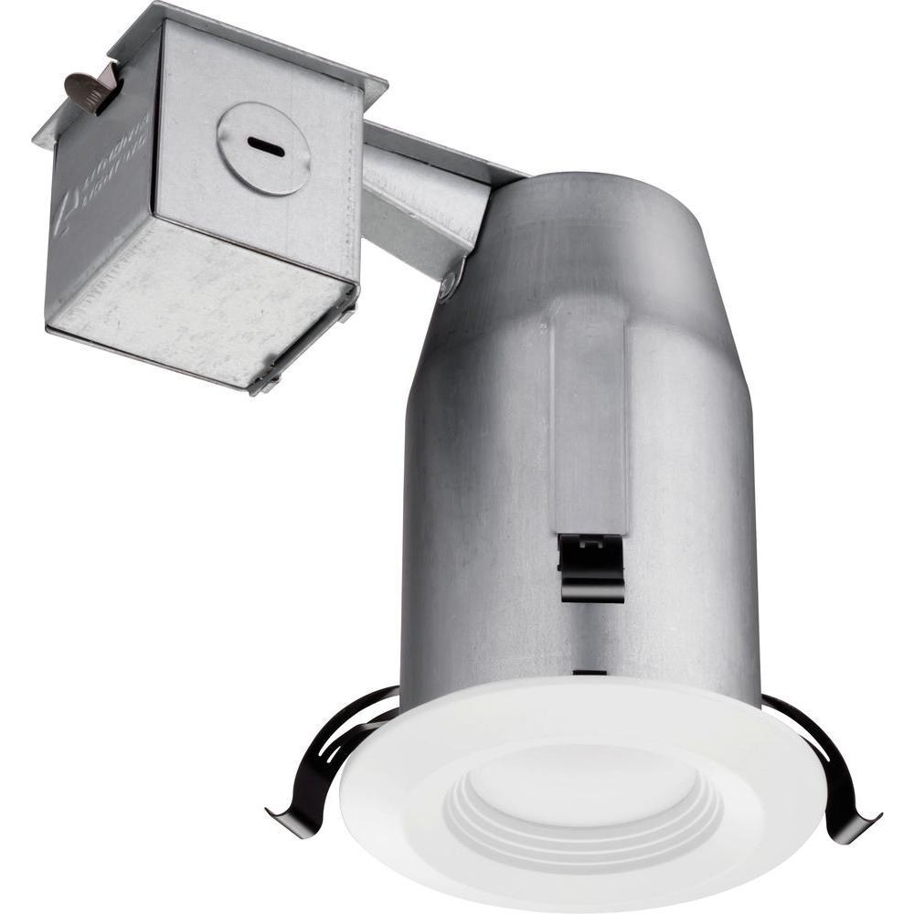 Lithonia Lighting 3 in. Matte White Recessed LED Baffle Kit