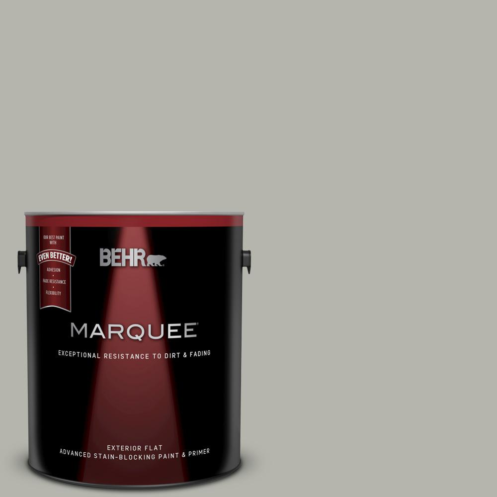 1 gal. #PPU25-08 Heirloom Silver Matte Exterior Paint and Primer in