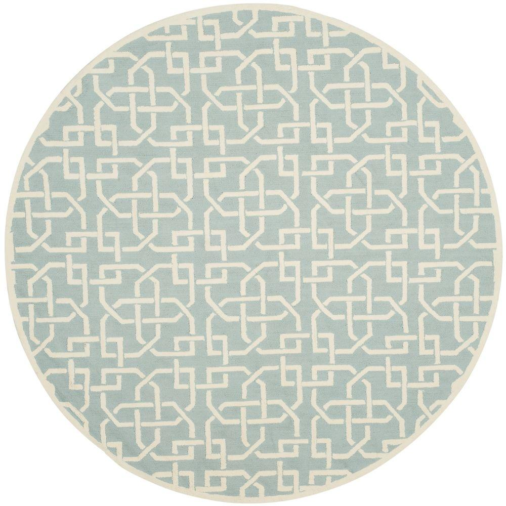 Blue And White Circle Rug: Safavieh Newport Light Blue/White 6 Ft. X 6 Ft. Round Area