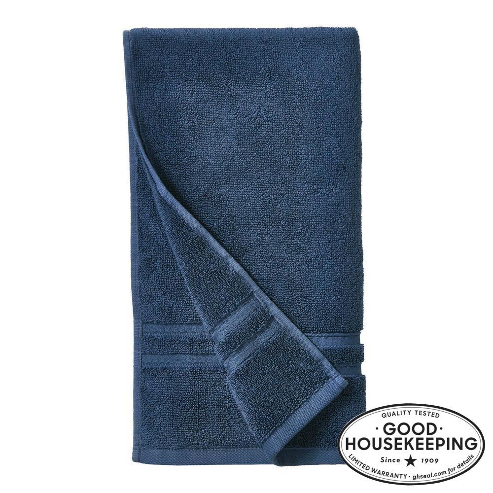 Turkish Cotton Ultra Soft Hand Towel in Navy