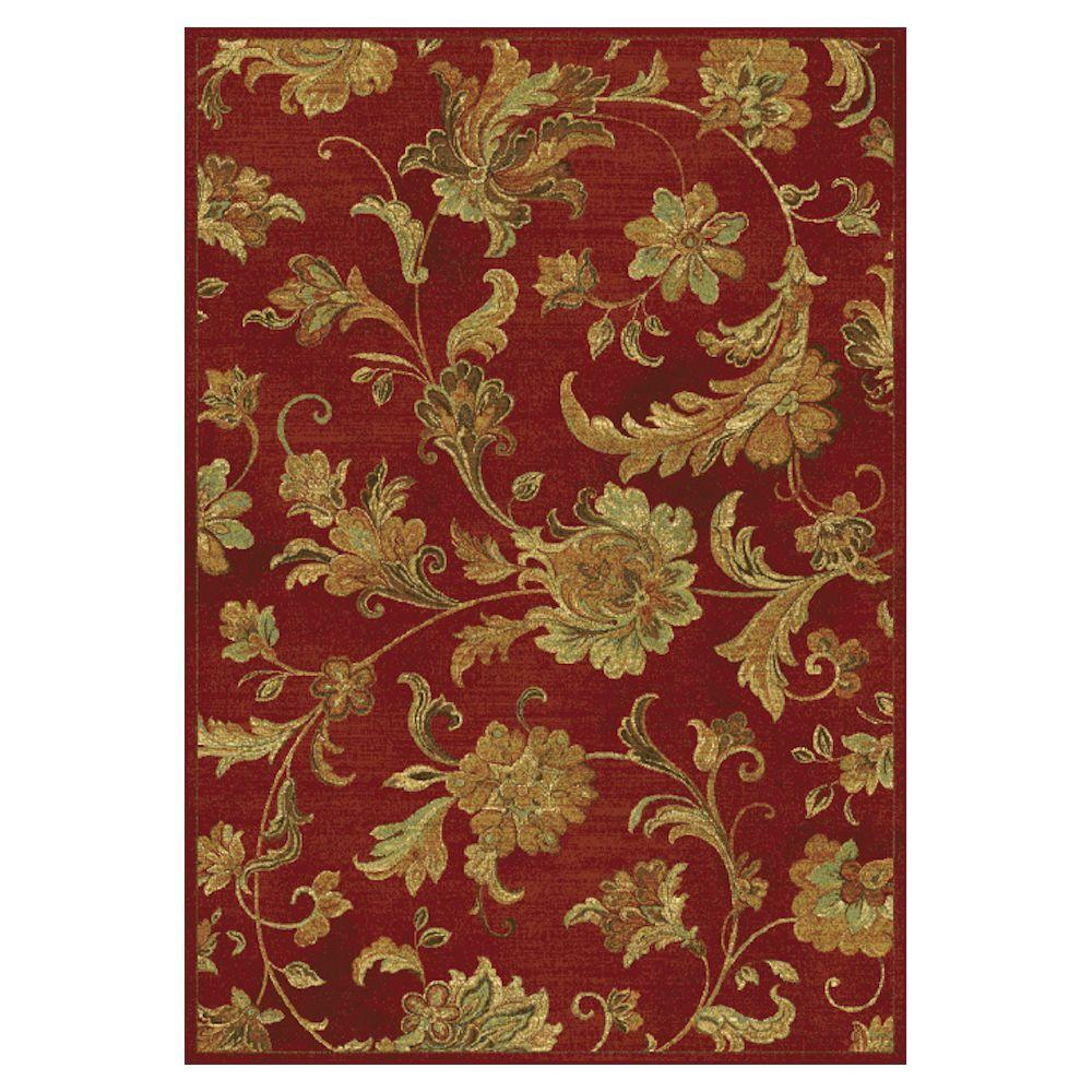 Kas Rugs Modern Artifact Red 3 ft. 3 in. x 4 ft. 7 in. Area Rug