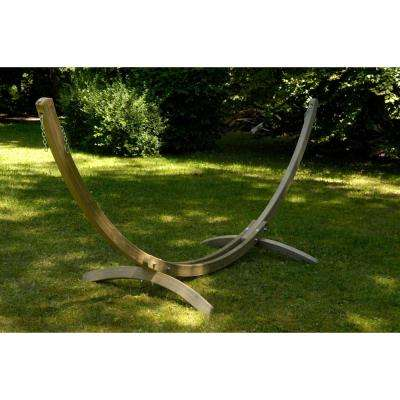 123 in. - 157 in. Adjustable Laminated Spruce Hammock Stand
