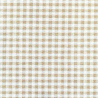 Grip Prints Khaki Plaid Shelf Liner (Set of 4)