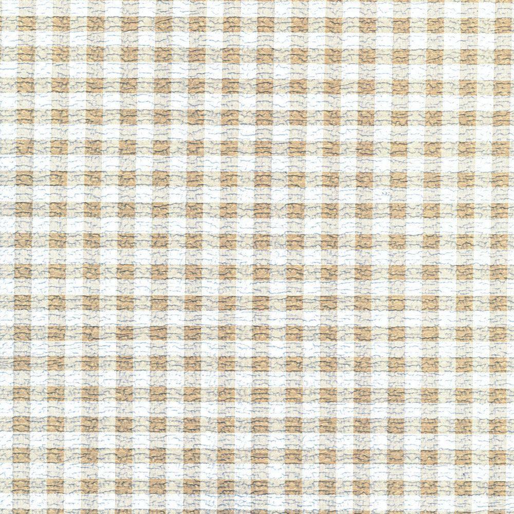 Grip Prints Khaki Plaid Shelf Liner (Set of 4)