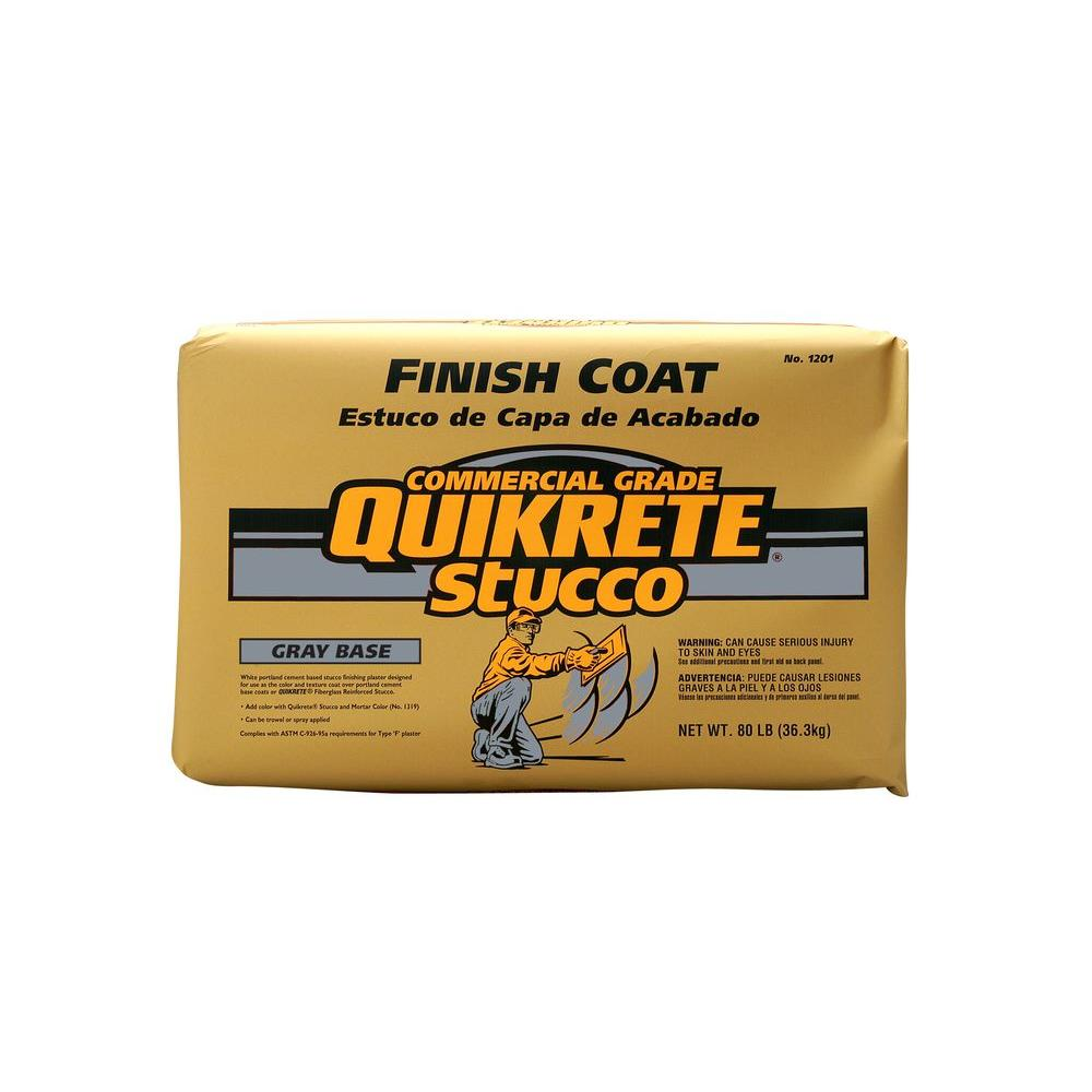 Quikrete 80 lb. Stucco Finish Coat - Gray