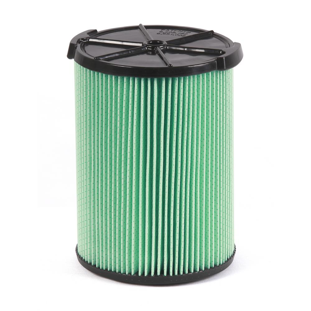RIDGID 5-Layer Allergen Pleated Paper Filter for 5.0 Plus Gal. RIDGID Wet/Dry Vacs