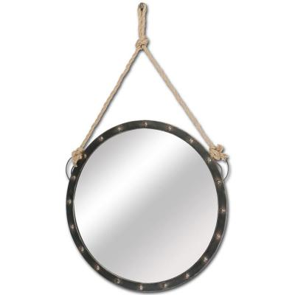 Medium Round Black Mirror (39 in. H x 2 in. W)