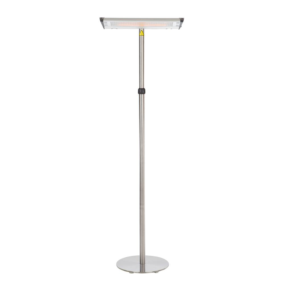 Exceptional Fire Sense 1,500 Watt Morrison Dual Head Floor Standing Halogen Electric  Patio Heater