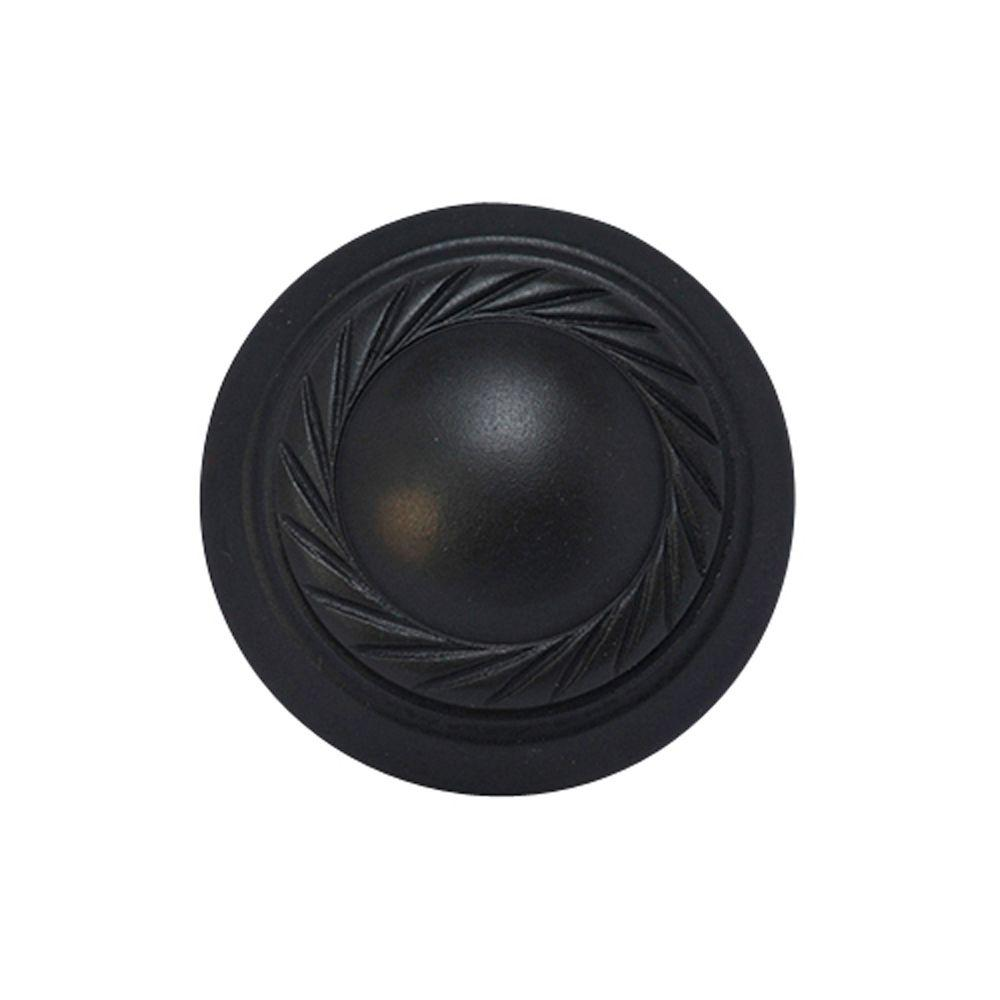 Copper Mountain Hardware Georgian Roped 1 in. Oil Rubbed Bronze Round Cabinet Knob