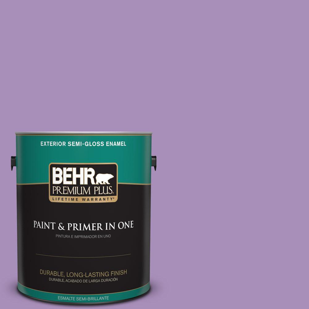 BEHR Premium Plus 1-gal. #650B-5 Garden Pansy Semi-Gloss Enamel Exterior Paint