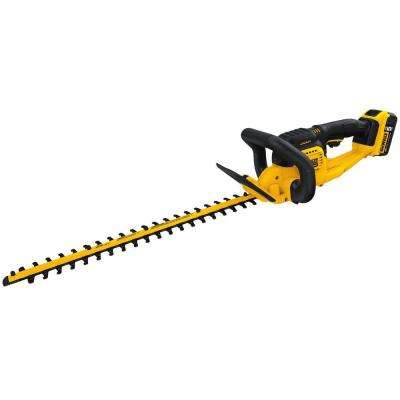 22 in. 20-Volt MAX Lithium-Ion Cordless Hedge Trimmer with 5.0Ah Battery and Charger Included
