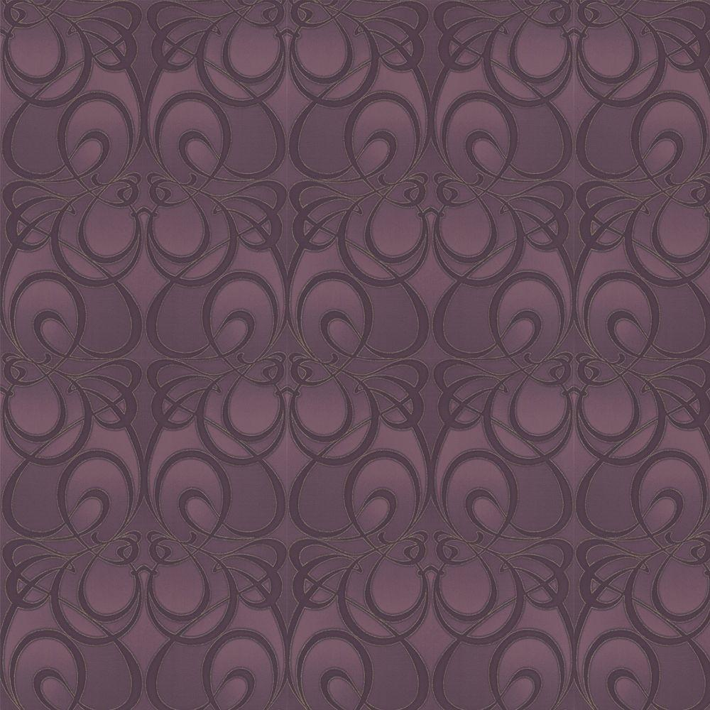 Graham & Brown 56 sq. ft. Jazz Purple Wallpaper-DISCONTINUED