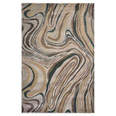 Silver Wood Graines 7 ft. 7 in. x 10 ft. 10 in. Area Rug