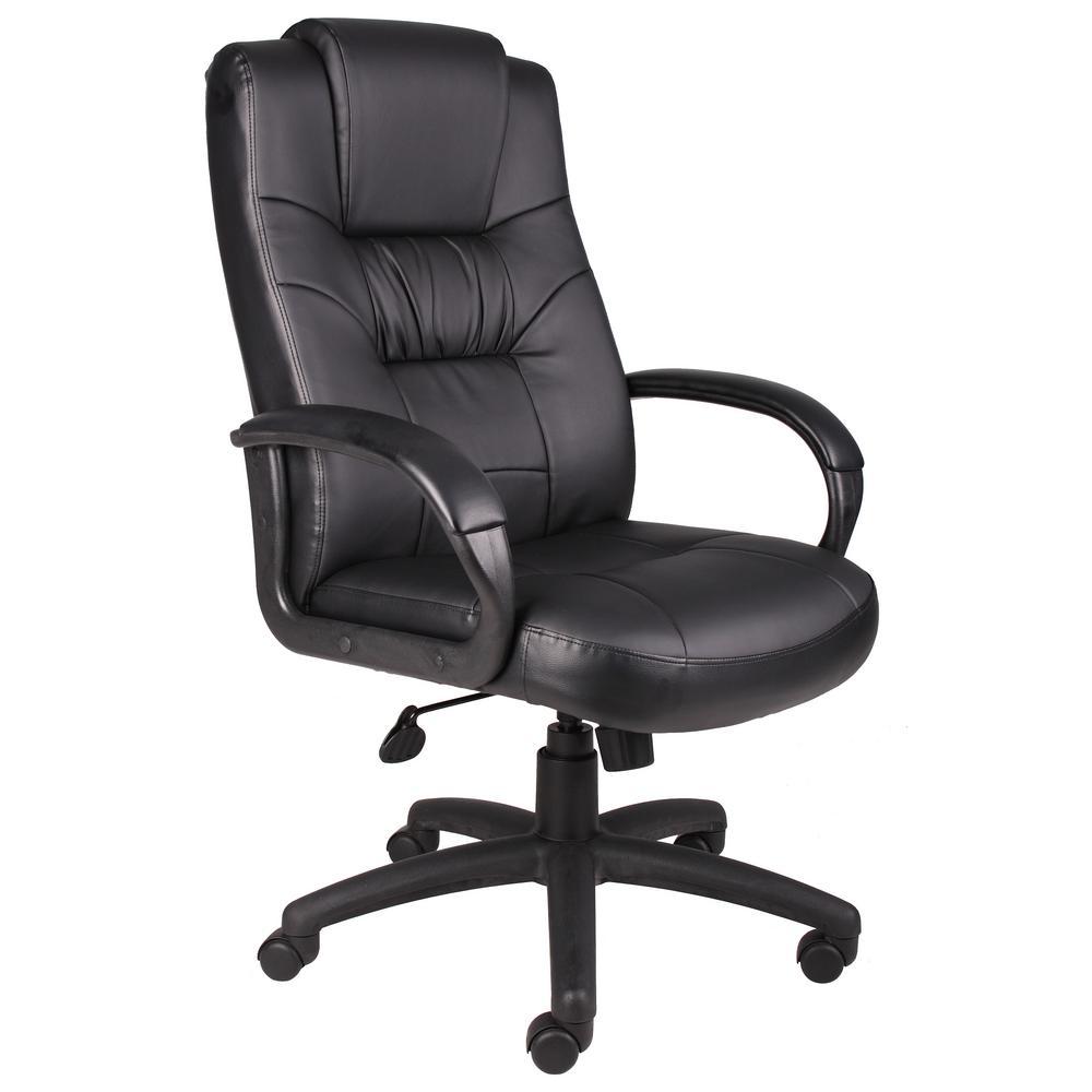 Black Leatherplus Executive Chair