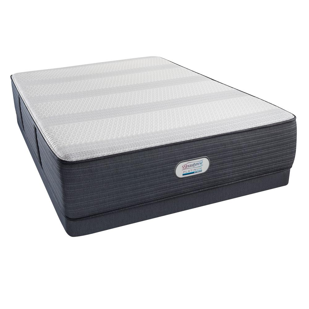 Beautyrest Platinum Hybrid Emerald Falls Ultra Plush Full Low Profile Mattress Set