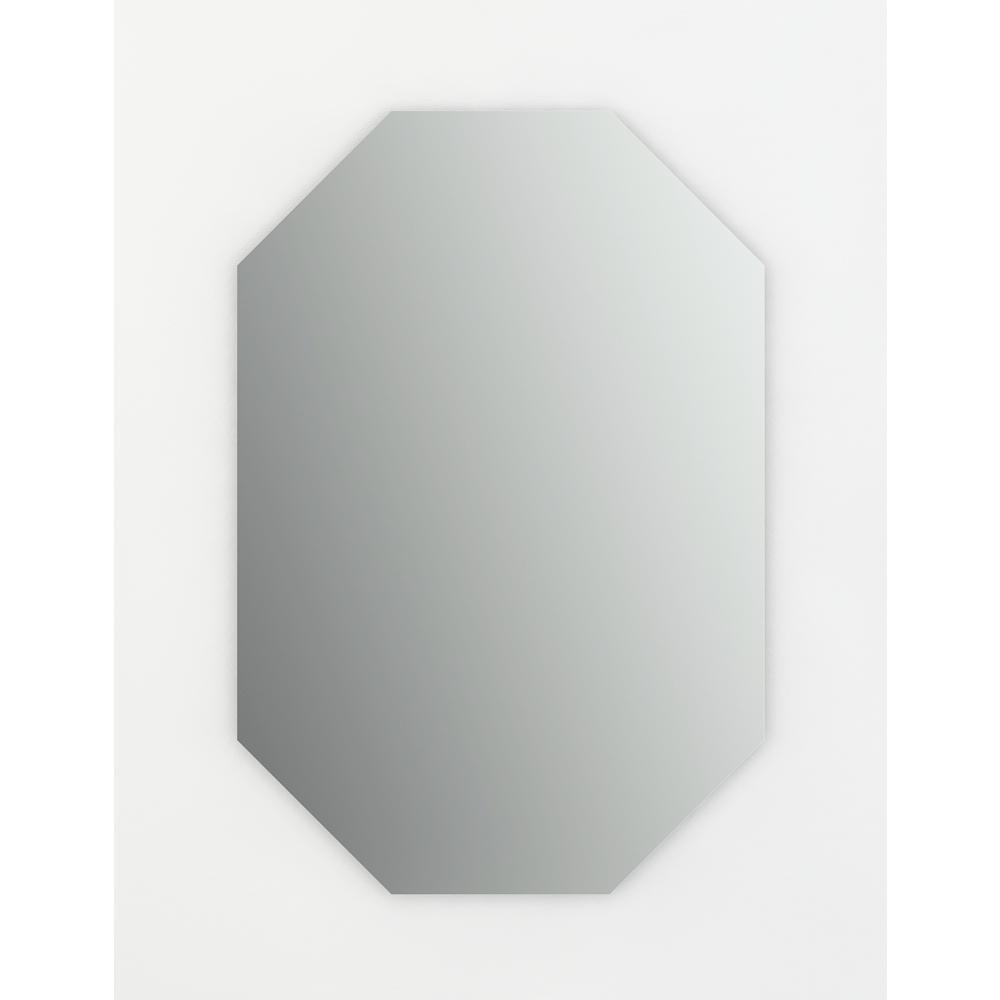 27 in. W x 40 in. H (L3) Frameless Octagon Standard Glass Bathroom Vanity Mirror