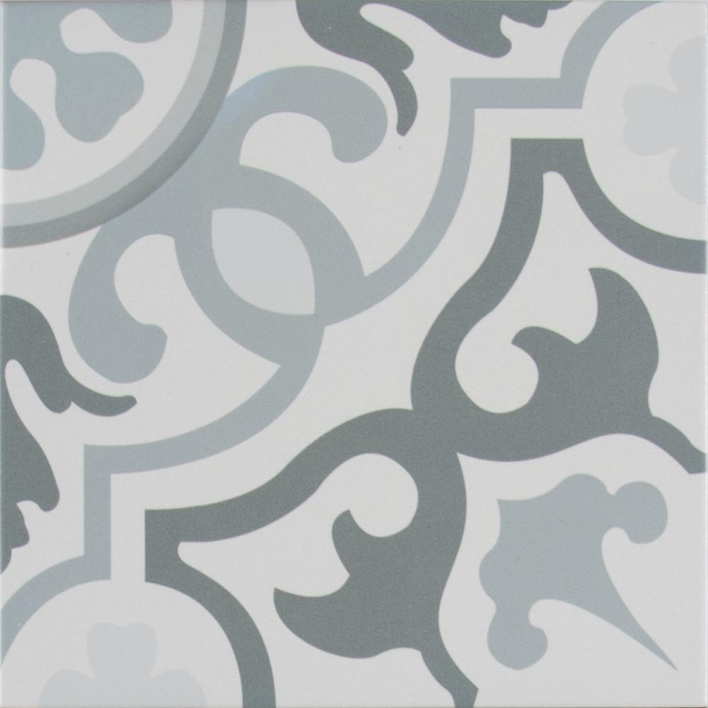 MSI Flori Encaustic In X In Glazed Porcelain Floor And Wall - Encaustic tile home depot