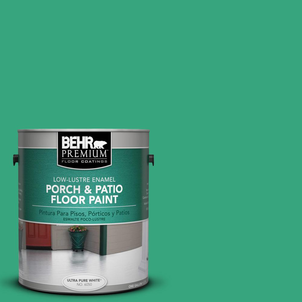 BEHR Premium 1 gal. #P420-5 Shamrock Green Low-Lustre Interior/Exterior Porch and Patio Floor Paint
