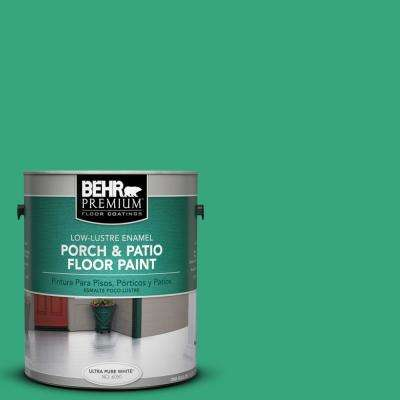 1 gal. #P420-5 Shamrock Green Low-Lustre Interior/Exterior Porch and Patio Floor Paint