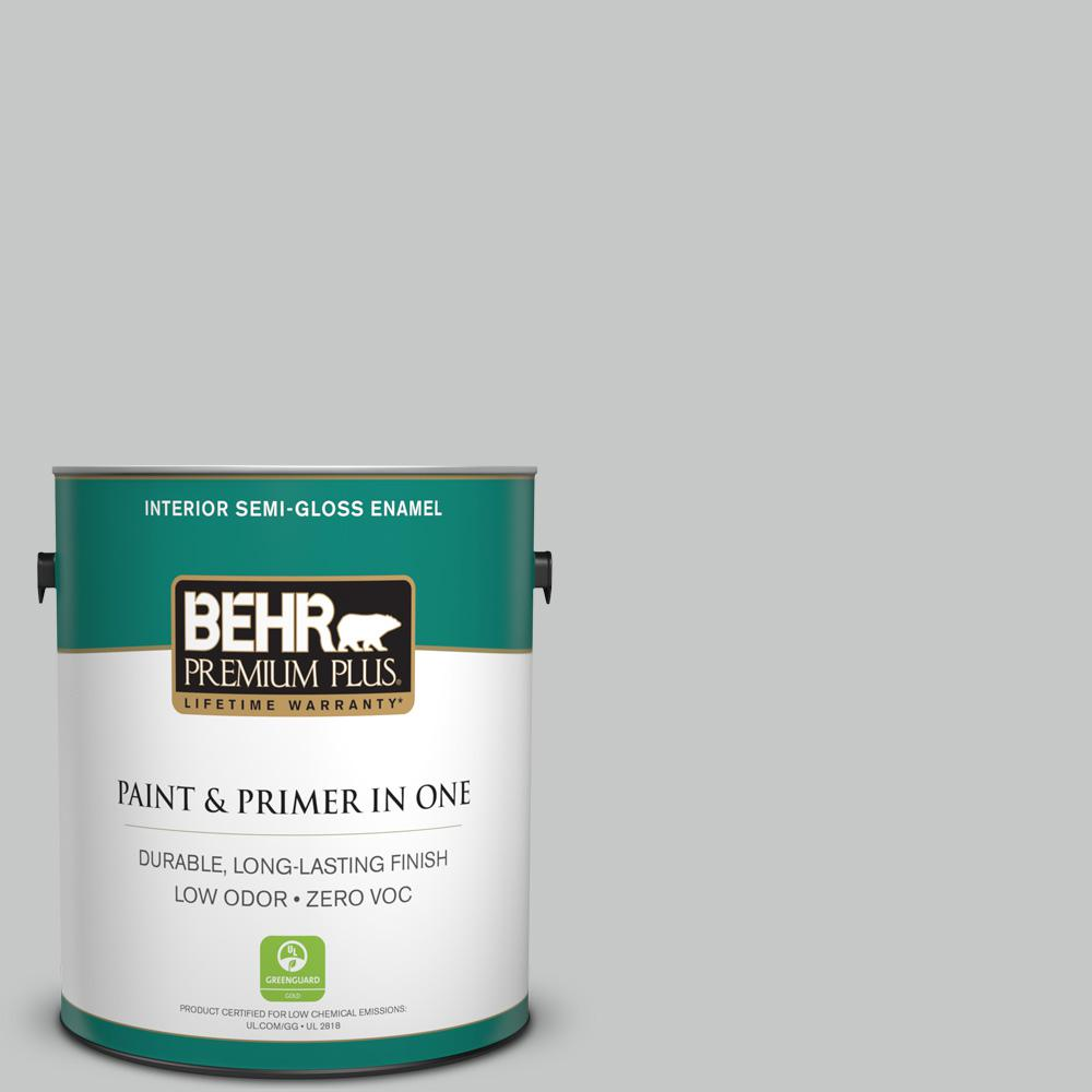 1-gal. #BNC-07 Frosted Silver Semi-Gloss Enamel Interior Paint