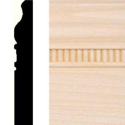 5/8 in. x 4 in. x 8 ft. Hardwood Embossed Base Moulding