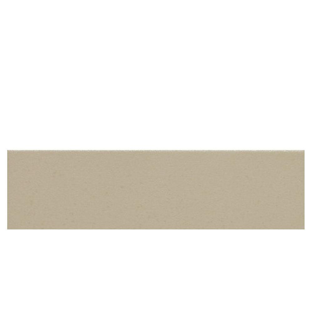 Daltile Colour Scheme Urban Putty Solid 3 in. x 12 in. Porcelain Bullnose Floor and Wall Tile