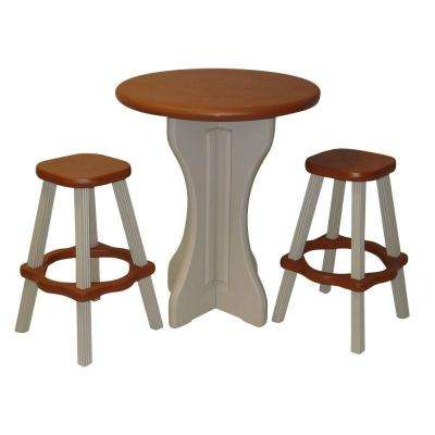 Redwood 3-Piece Patio Bistro Set