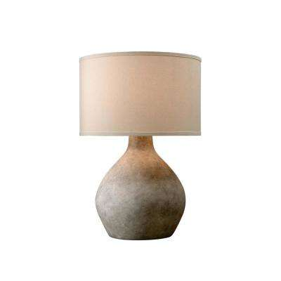 Zen 27 in. Lava Table Lamp with Off-White Linen Shade