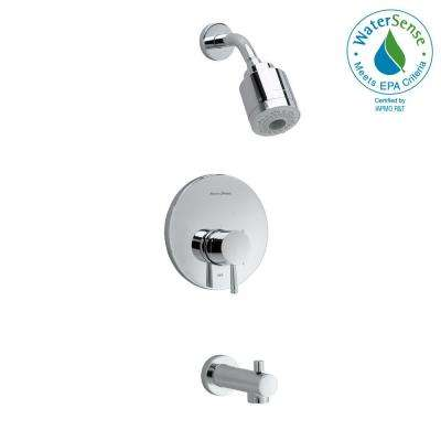Serin FloWise Pressure Balance 1-Handle Tub and Shower Faucet Trim Kit in Polished Chrome (Valve Sold Separately)
