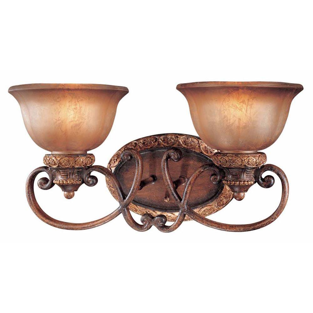 Illuminati 2-Light Illuminati Bronze Bath Light